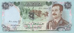 IRAQ 25 DINARS 1986 P-73 SADDAM HUSSAIN SWISS PRINT HIGH QUALITY NOTE UNC - Iraq