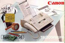 FRANCE TELECOM FRANCIA CHIP  CANON TELECOPIERS TEMATICA THEMATIC INFORMATICA PC Télécarte Phonecard Telefonkart - Francia