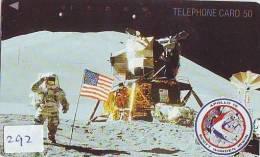 Télécarte Japon ESPACE (292) Phonecard JAPAN * TK * SPACE SHUTTLE * Fusée * NASDA * LAUNCHING * APOLLO 15 * SCOTT IRWIN - Space