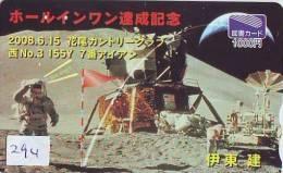 Télécarte Japon ESPACE (294) Phonecard JAPAN * TK * SPACE SHUTTLE * Fusée * NASDA * LAUNCHING * APOLLO 15 * SCOTT IRWIN - Space