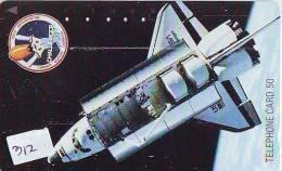 Télécarte Japon ESPACE (312) Phonecard JAPAN * TK * SPACE SHUTTLE * Rakete * NASDA * LAUNCHING * CHALLANGER - Space