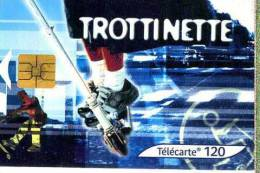 X FRANCE TELECOM FRANCIA CHIP STREE CULTURE TROTTINETTE TEMATICA THEMATIC SPORT Télécarte Phonecard Telefonkart - Francia