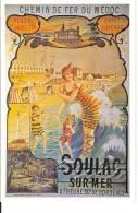 Soulac Sur Mer : Reproduction Affiche Chemin De Fer Du Médoc - Advertising