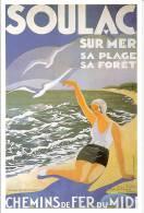 Soulac Sur Mer : Reproduction Affiche Chemin De Fer Du Midi - Advertising