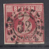 Bayern Minr.9 Gestempelt Offener Mühlradstempel Nr. 32 Bamberg - Bayern