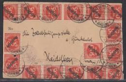 DR Karte Mef Minr.16x D 81 Neuenburg 31.8.23 - Dienstpost