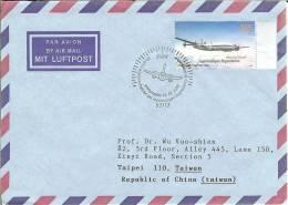 """(988) """"50 Jahre Wiederaufnahme Des Regelmäßigen Luftverkehrs In Deutschland"""" BONN 03.03.05 N. Taiwan Gelaufen, Ankunft-O - Flugzeuge"""