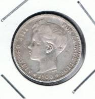 ESPAÑA   -  1 Peseta  1900     PLATA - Otros