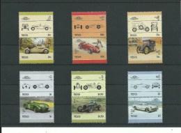1986 Nevis Automobiles 6x2v (Jaguar,Maserati,Chevrole T) Cars, Autos, Voitures, Coches Michel 348/59  MNH - Voitures