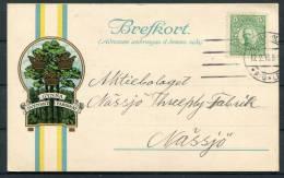 1916 Sweden Stockholm Gynna Svenskt Fabrikat Tree Advertising Postcard