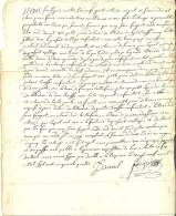 Cachets Généralité  1754 - Cachets Généralité