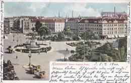 Hannover, Pferdedroschken Auf Dem Ernst August-Platz, Um 1899 - Taxis & Droschken