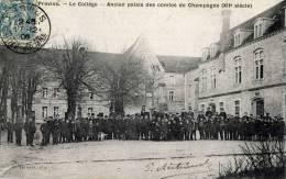 77-PROVINS-Le Collège-Ancien Palais Des Comtes De Champagne-TOP-animée - Provins