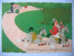 Albert DUBOUT Illustrateur Course De Chevaux N°25A Editions Du Moulin 1958/ - Dubout