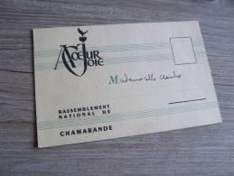 CHAMARANDE RASSEMBLEMENT A COEUR JOIE  @  CPA  VUE RECTO/VERSO AVEC BORDS - France