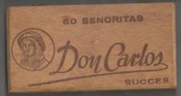 Boîte à Cigares  Don Carlos  50 Senoritas  Déchets De Havane - Cigares - Accessoires