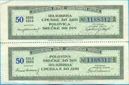 EX YU. The Full Lotery Ticket. 1954 - Billets De Loterie