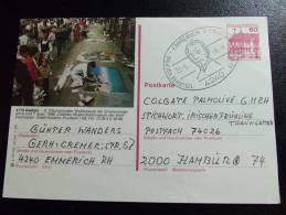 FAMOUS PLACES IN EUROPE Germany Geldern Street Artists - Strassenmaler - Special Stampmark Emmerich Kolping 125 Years - Geldern