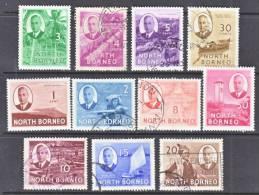 North Borneo 244-54   *  (o) - North Borneo (...-1963)