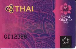 Thailand Membercard   Thai Airways  Airline Flugzeug Orchidee - Vliegtuigen