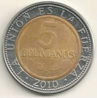 Bolivia 5 Bolivianos 2010  KM#212 - Bolivia