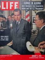 Magazine LIFE - JANUARY 6 , 1958 - INT. ED - NIXON - Paul-Henri SPAAK, Elsa MARTINELLI - ALGÉRIE, COCA-COLA, FIAT (3059 - Nouvelles/ Affaires Courantes
