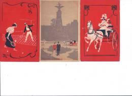 CPA 59 LILLE PUBLICITE CHICOREE EXTRA A LA BELLE JARDINIERE C. BERIOT A LILLE TROIS BELLES CARTES - Publicité
