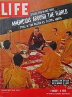 Magazine LIFE - FEBUARY 3 ,  1958 - INTER. ED. - EISENHOWER - GOODYEAR - Pub. SABENA Pour Expo 1958 Bruxelles (3060) - Nouvelles/ Affaires Courantes