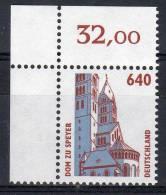 1995, Allemagne -  Cathédrale De Spire,  Y&T No. 1643, Coin De Feuille, Neuf **, Lot 38033 - BRD