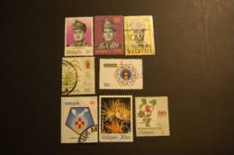 MALESIA 8 VALORI USATI - Malesia (1964-...)