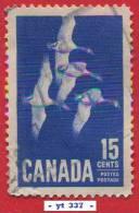 1963  - Amérique Du Nord - Canada - Oies - 15 C. Outremer -