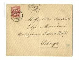 SUISSE Canton De Fribourg  « MONTBOVON »LSE – Tarif UPU « FRANCE » 25c. Yv.N°131 Paire - 1 - Storia Postale