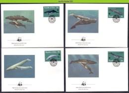 Mkt005fb WWF FAUNA ZEEZOOGDIEREN WALVIS WHALE SEA MAMMALS BALEINES MARINE LIFE PALAU 1983 FDC´S - Palau