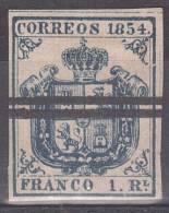 1854 - ESPAGNE - ARMOIRIES - Y&T N° 30 - 1850-68 Kingdom: Isabella II