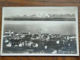 Neuchâtel Et Les Alpes / Anno 1933 ( Fotokaart 2623 - Zie/voir Foto Voor Details ) !! - NE Neuchâtel