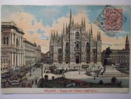 Cpa Milano Piazza Del Duomo ( Dall'Alto ) - Couleur 1907 - SC01 - Milano