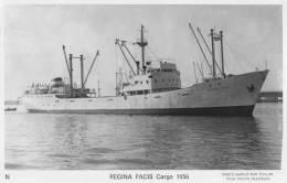Cargo Français REGINA PACIS - Carte Photo éd. Marius Bar - Bateau/ship/schiff - Commerce