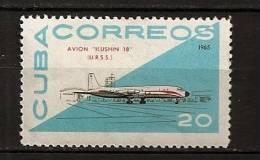 Cuba 1965 N° 949 Iso ** Avion, Aviation, Russie, Soviétique, Iliouchine 18, Aéroport, Tour De Controle - Neufs