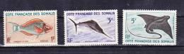 1959-Somaliküste-Mi 320,322,324 (**) - Nuovi