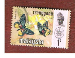 MALESIA: TRENGGANU (MALAYSIA) - SG 110  - 1971 BUTTERFLIES: DELIAS NINUS        - USED ° - Malesia (1964-...)
