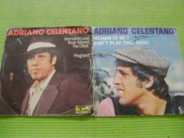 45 Tours -  Adriano Celentano (lot De 2) - Sonstige