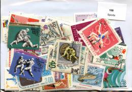 Lot 100 Timbres Sport - Timbres