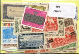Lot 100 Timbres Algerie - Timbres