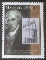 James Watt, Mechanical Engineer, Steam Engine, Railway, Transport MNH Maldives - Trains