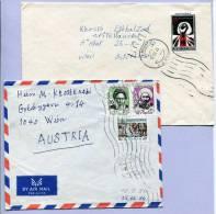 2 Letters Iran Persien TEHERAN To VIENNA  1974 (847) - Irak