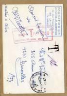 Carte Fondation UP Dugniolle-Querton Avec T Taxe + Cachet T Bruxelles Belgique - 2 Scans - Postage Due