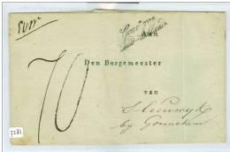 VOORLOPER * BRIEFOMSLAG Van GOUVERNEUR Van ZUID-HOLLAND WOUDRICHEM Aan De BURGEMEESTER STEENWIJK Bij GORINCHEM (7281) - Niederlande