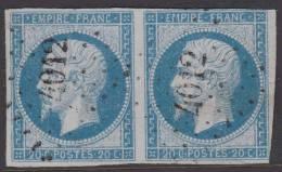 *PROMO* PC 4012 (Salonique, (Turquie)) Sur Paire 20c Napoléon ND, Cote +120€ - Marcophily (detached Stamps)