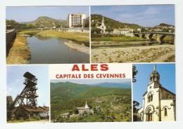 CSM :30 - Gard - Alès : Multivues ( 5 ) : Gardon - Puits Destival - ND. Des Mines - Eglise Rochebelle - Alès