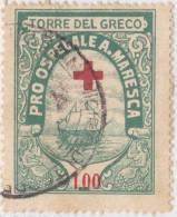 SI53D Italia Italy Marche Da Bollo Comunali Revenue Comune Torre Del Greco Pro Ospedale A.Maresca L. 1 Us. - Italia